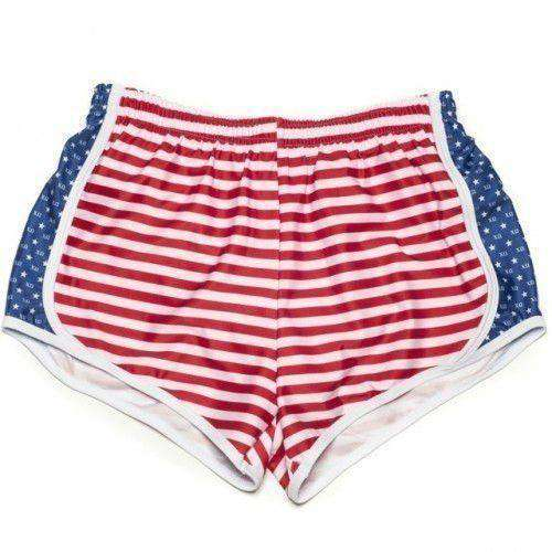 Chi Omega Shorts in Red, White and Blue by Krass & Co.
