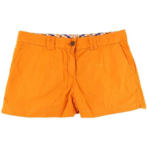 Clemson Reversible Women's Shorts in Madras and Solid by Olde School Brand - FINAL SALE