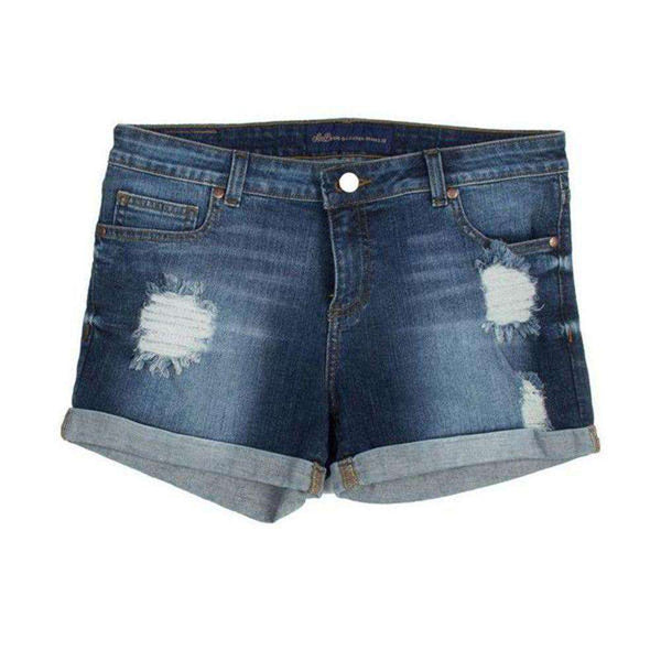 Women's Shorts - Cuffed Denim Shorts By Lauren James