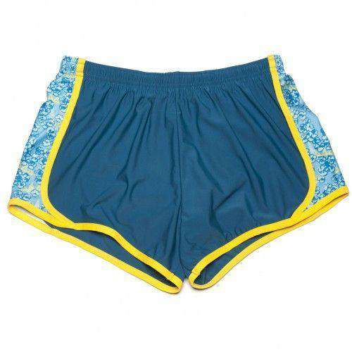 Delta Delta Delta Shorts in Cerulean Blue by Krass & Co.