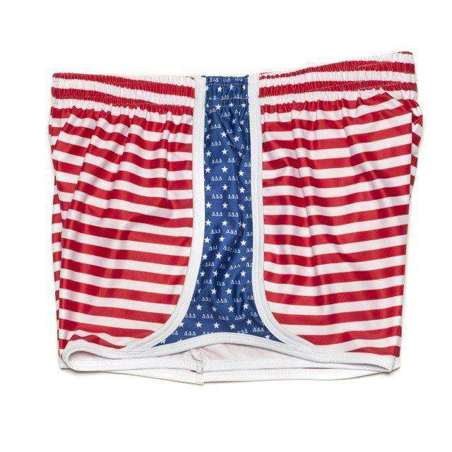 Women's Shorts - Delta Delta Delta Shorts In Red, White And Blue By Krass & Co.