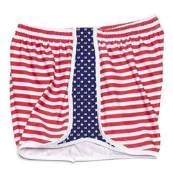 Women's Shorts - Delta Zeta Shorts In Red, White And Blue By Krass & Co.