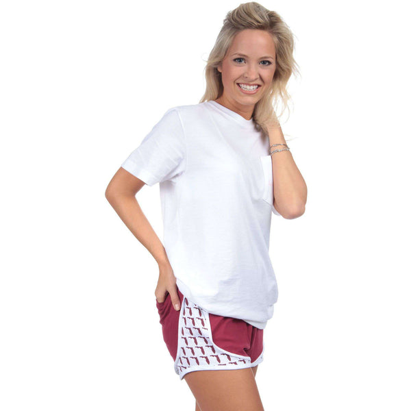 Florida Jersey Shorties in Crimson by Lauren James - FINAL SALE
