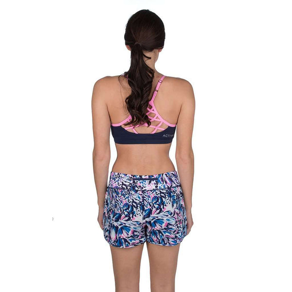 Front Runner Sport Shorts in Wisteria Print by Lauren James - FINAL SALE