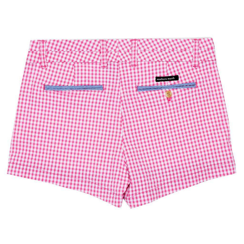 Gingham Brighton Short in Pink by Southern Marsh