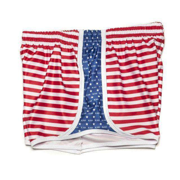 Women's Shorts - Kappa Alpha Theta Shorts In Red, White And Blue By Krass & Co. - FINAL SALE