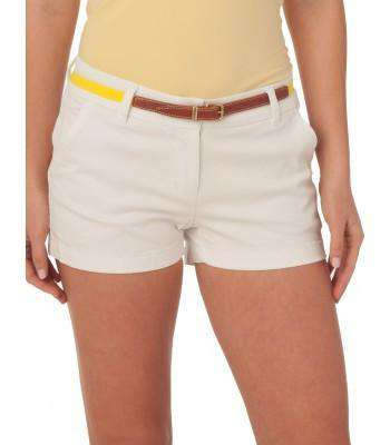 "Women's Shorts - Ladies Chino 3"" Shorts In Classic White By Southern Tide"