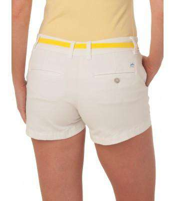 "Ladies Chino 3"" Shorts in Classic White by Southern Tide"