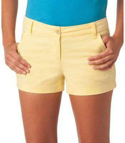 "Women's Shorts - Ladies Chino 3"" Shorts In Lemonade By Southern Tide"
