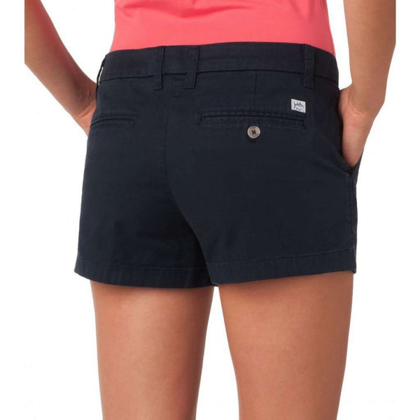 "Women's Shorts - Ladies Chino 3"" Shorts In Navy By Southern Tide"