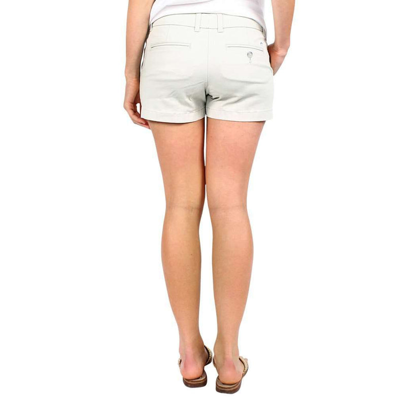 "Ladies Chino 3"" Shorts in Stone by Southern Tide"
