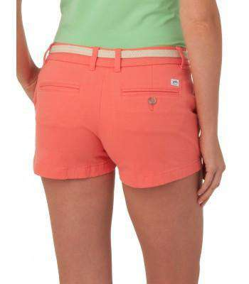 "Ladies Chino 3"" Shorts in Sugar Coral Pink by Southern Tide"