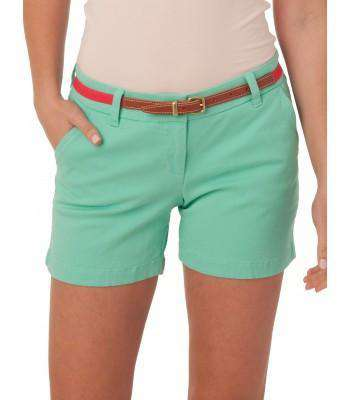 "Women's Shorts - Ladies Chino 5"" Shorts In Bermuda Teal By Southern Tide"