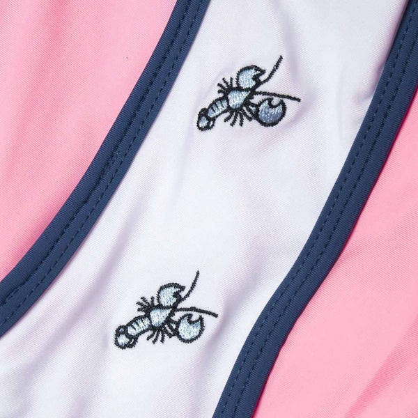Lobster Embroidered Shorts in Pink by Krass & Co.