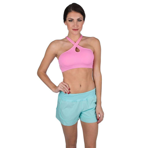 Women's Shorts - Make The Cut Scallop Short In Ocean Palm By Lauren James