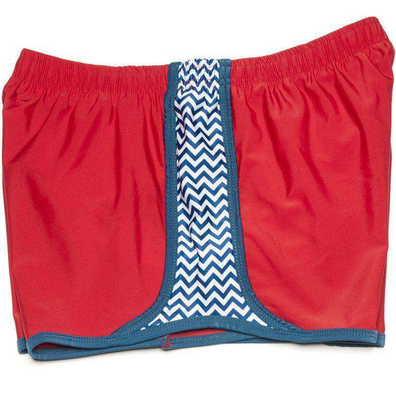 Women's Shorts - Making Waves In Red By Krass & Co. - FINAL SALE