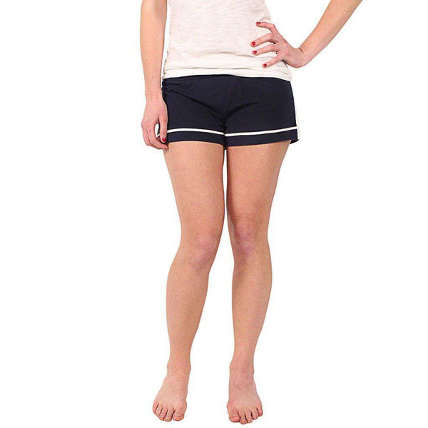 Women's Shorts - Maud Shorts In Navy/White By Duffield Lane - FINAL SALE
