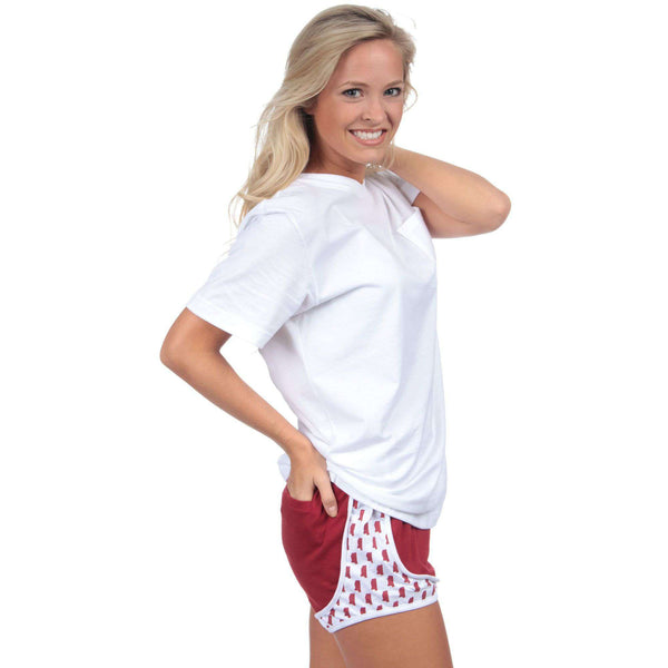 Mississippi Jersey Shorties in Crimson by Lauren James  - 1