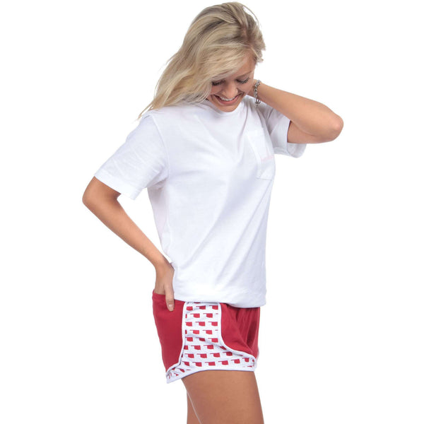 Oklahoma Jersey Shorties in Red by Lauren James  - 1