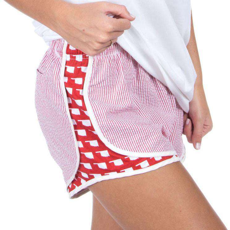 Oklahoma Seersucker Shorties in Red by Lauren James - FINAL SALE