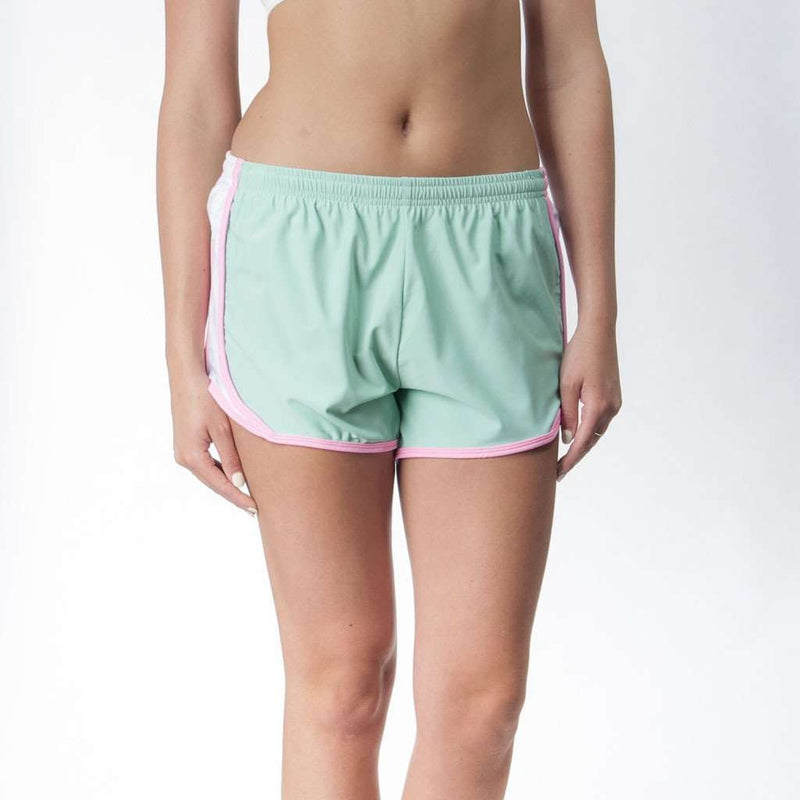 Women's Shorts - Palm Beach Shorts In Seafoam With Flamingo By Krass & Co.