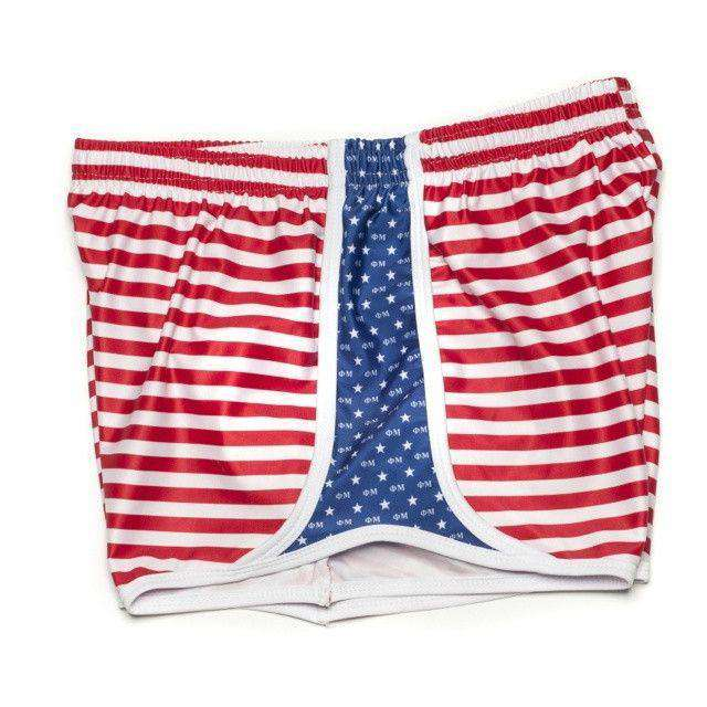 Women's Shorts - Phi Mu Shorts In Red, White And Blue By Krass & Co. - FINAL SALE