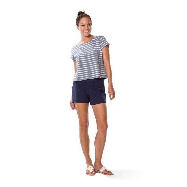 Women's Shorts - Ponte Shorts In Navy By Sail To Sable - FINAL SALE