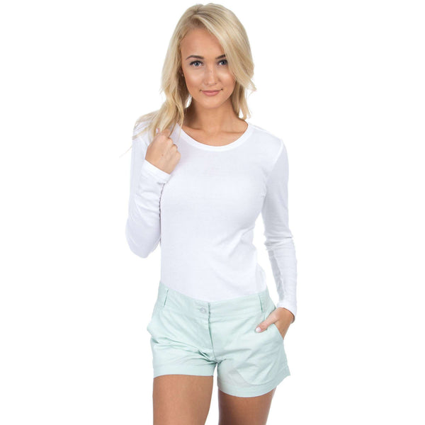 Women's Shorts - Poplin Short In Mint By Lauren James
