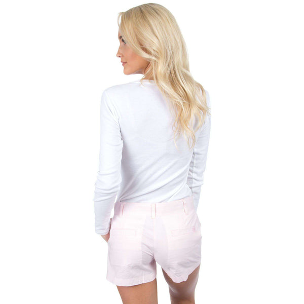 Women's Shorts - Poplin Short In Pink By Lauren James