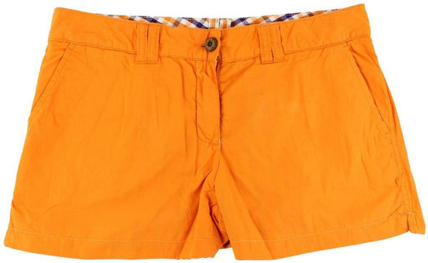 Reversible Women's Shorts in Orange and Purple Madras and Solid by Olde School Brand - FINAL SALE