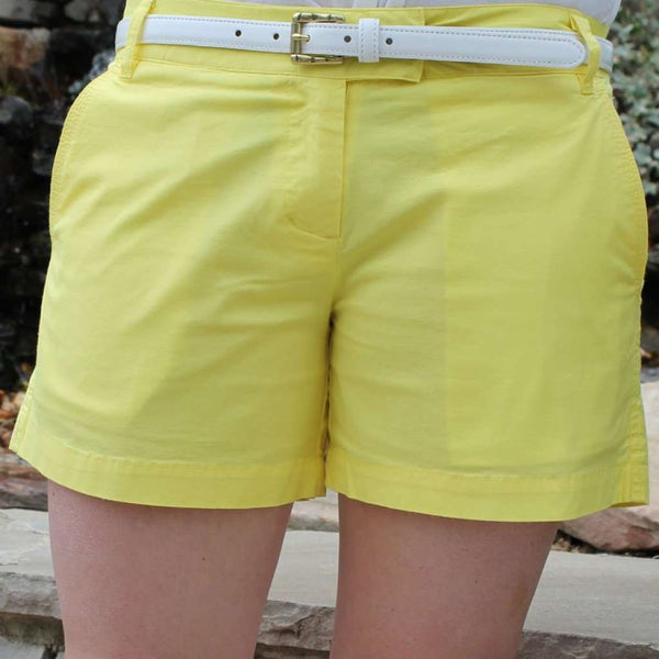 Women's Shorts - Sailing Short In Lemon Yellow By Castaway Clothing - FINAL SALE