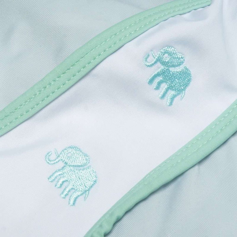 Women's Shorts - SarahBelle 93x Shorts In Grey With Green Elephants By Krass & Co.