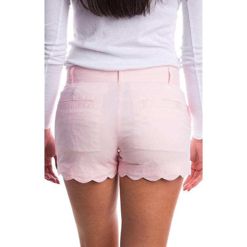 Scalloped Hem Poplin Short in Pink by Lauren James - FINAL SALE