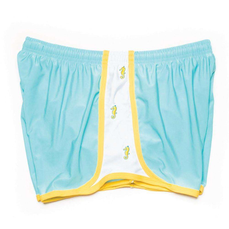 Women's Shorts - Seahorse Embroidered Shorts In Light Blue By Krass & Co.