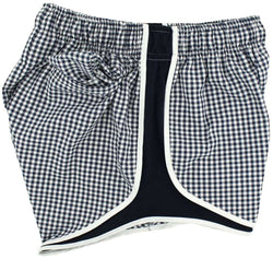 Women's Shorts - Shorties Shorts In Navy Gingham By Lauren James