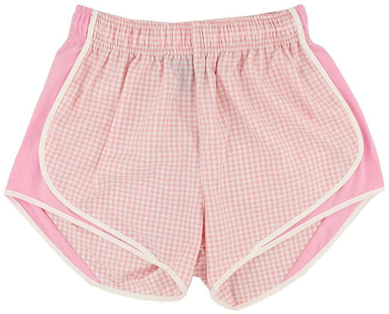 Shorties Shorts in Pink Gingham by Lauren James