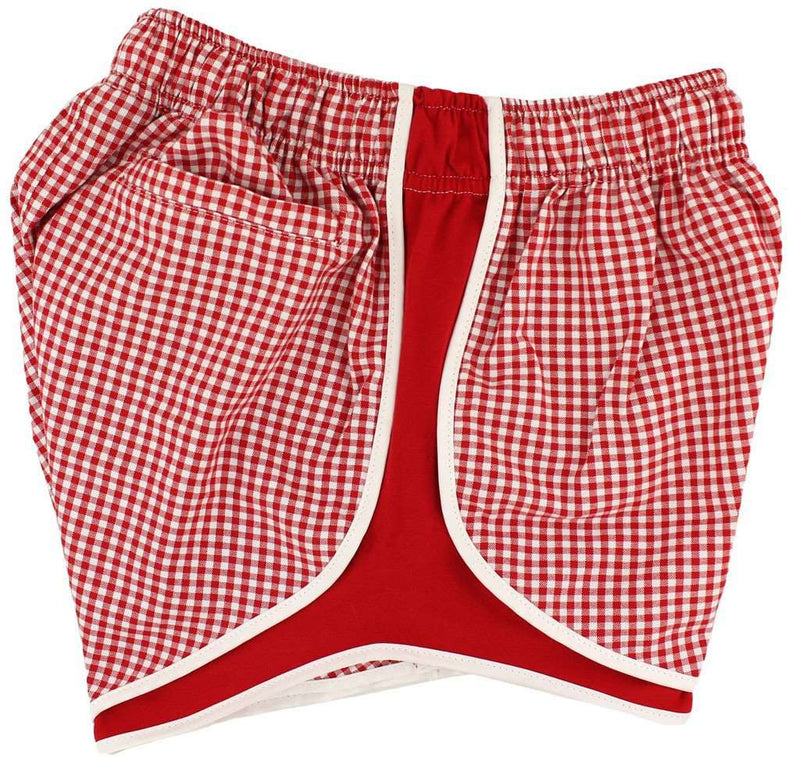 Women's Shorts - Shorties Shorts In Red Gingham By Lauren James
