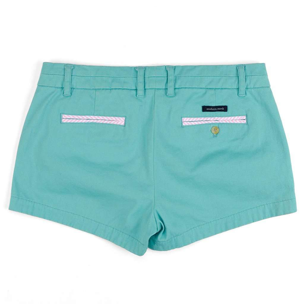 The Brighton Chino Short in Antigua Blue by Southern Marsh - FINAL SALE