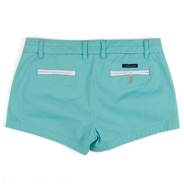Women's Shorts - The Brighton Chino Short In Antigua Blue By Southern Marsh