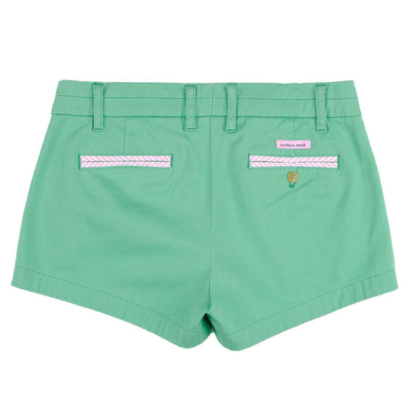 The Brighton Chino Short in Bimini Green by Southern Marsh - FINAL SALE