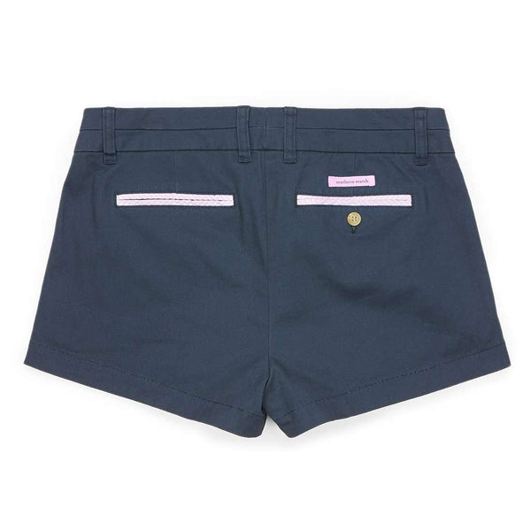 Women's Shorts - The Brighton Chino Short In Colonial Navy By Southern Marsh