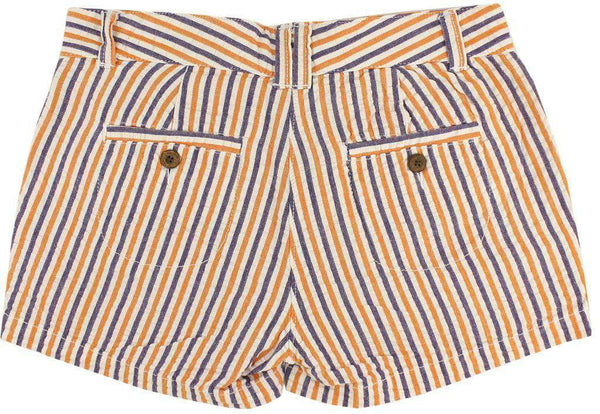 Women's Shorts in Orange and Purple Seersucker by Olde School Brand - FINAL SALE