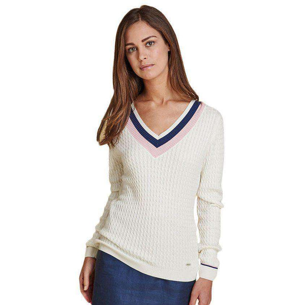 Alasdiar Knit Sweater in Cream by Barbour - FINAL SALE