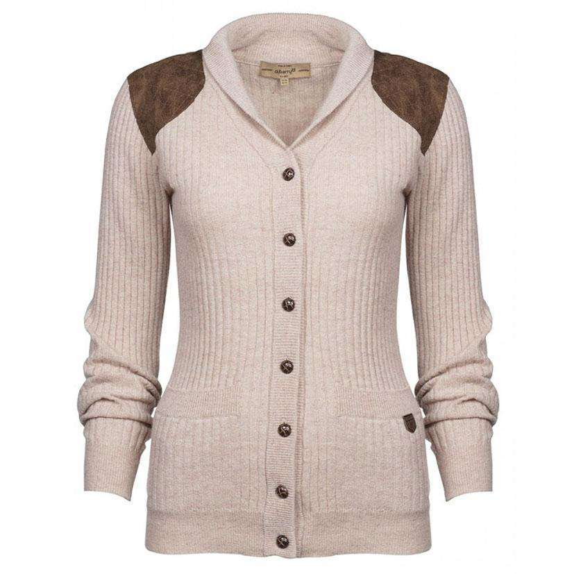 Aughrim Cardigan Sweater In Oatmeal By Dubarry Of Ireland Country