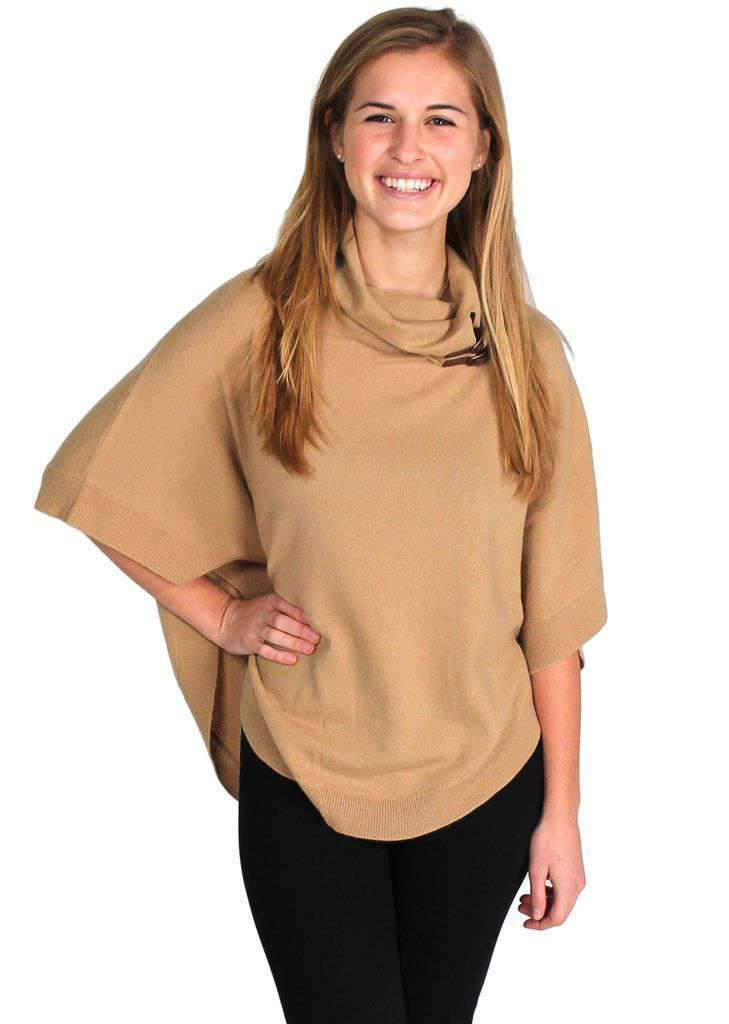 Women's Sweaters - Cashmere Cape In Tan By Tyler Boe