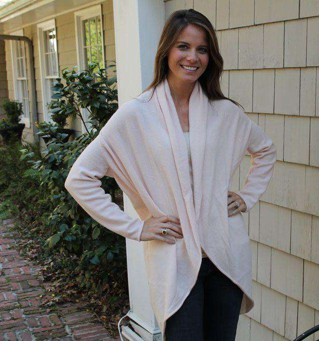 Women's Sweaters - Cashmere Cocoon Cardigan In Light Pink By Cortland Park