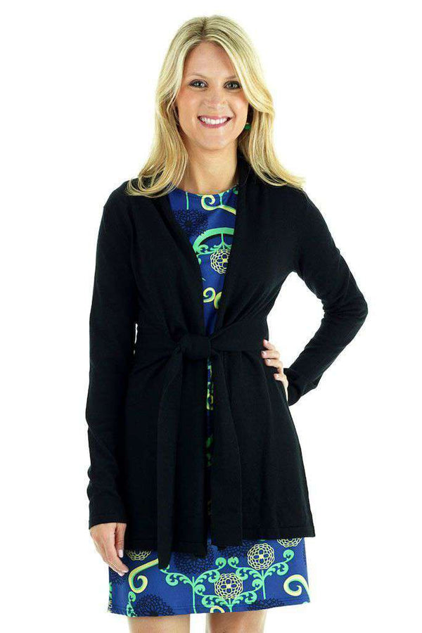 Courtney Cardigan in Black by Tracy Negoshian - Country Club Prep