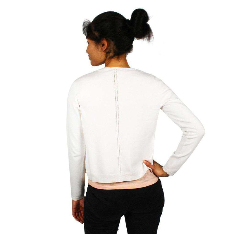 Women's Sweaters - Cropped Cardigan In Pearl White By Tyler Boe - FINAL SALE