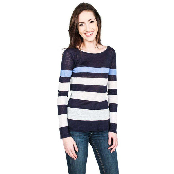 Emory Sweater in Navy, White, and Blue by Hiho - FINAL SALE