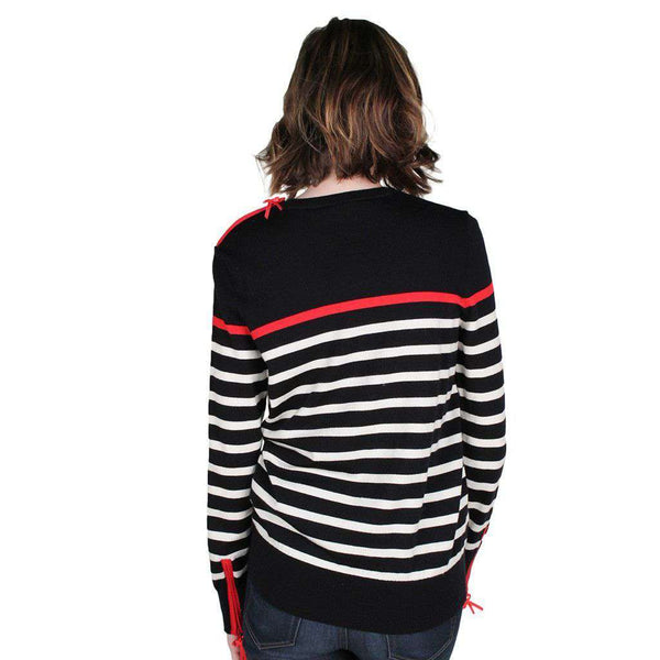 Mirabel Sweater in Navy with White & Red Stripe by Saint James - FINAL SALE